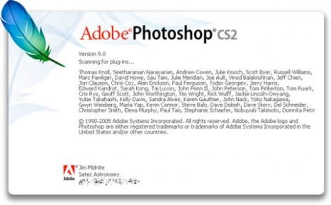 2005 - Adobe Photoshop versão CS2