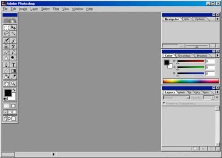 1999 - Adobe Photoshop versão 5.5 - área de trabalho