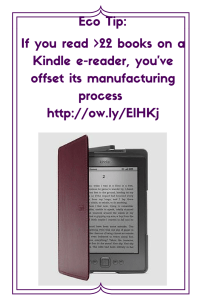 Is the Kindle green + ecofriendly-