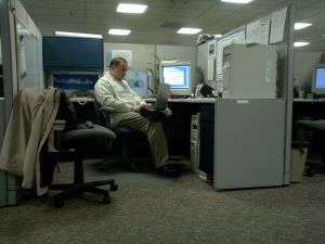 fatigue in office cubicle