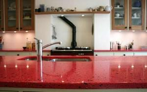 glass is an eco friendly kitchen wall covering