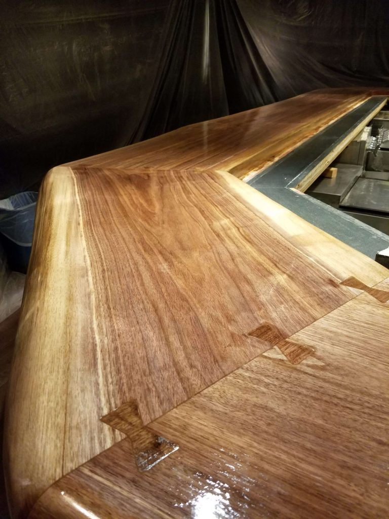 Live edge slab joinery