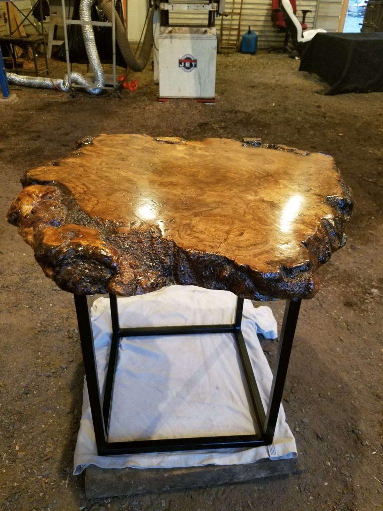 oak burl slab