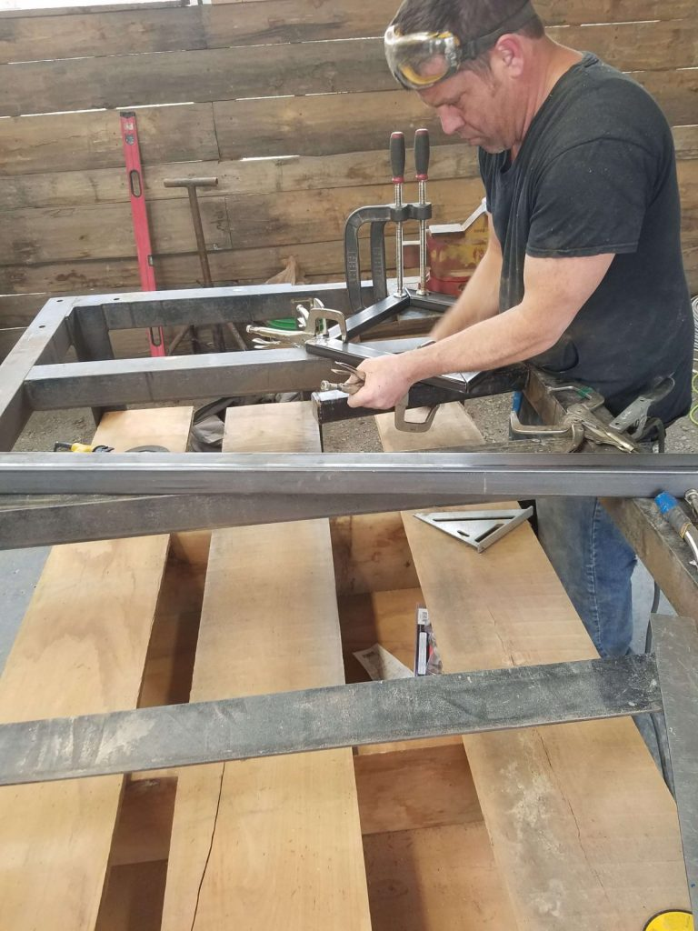 Micah Met shop metal table base