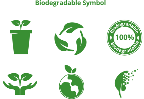 biodegradable symbols