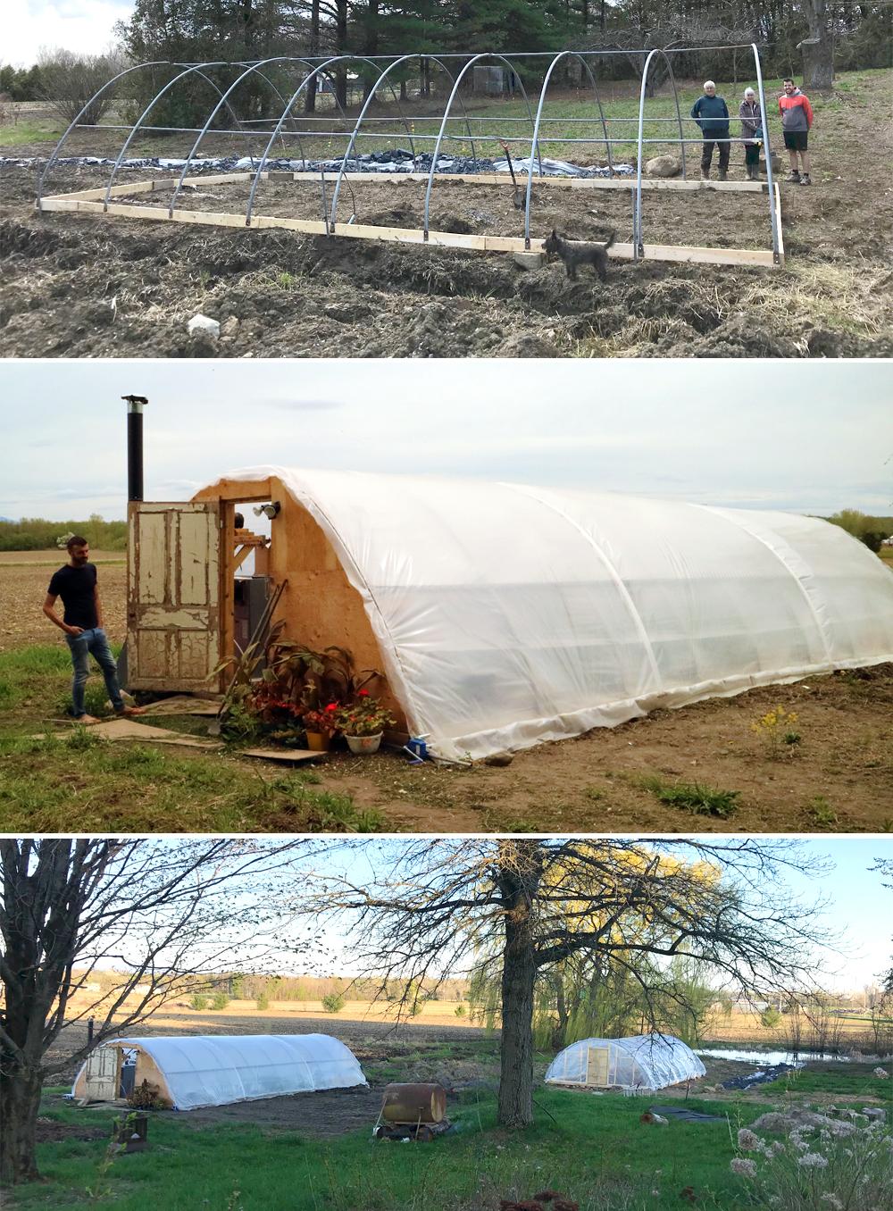 construire des serres en climat froid