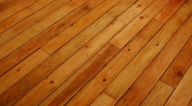 90 year old red pine refinished with zero VOC floor oil