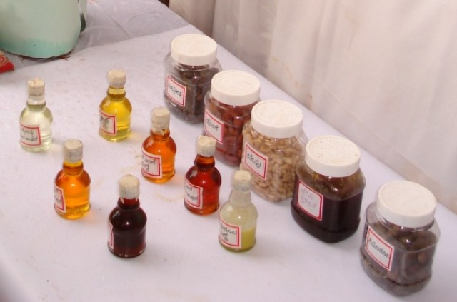 Variety of vegetable oils