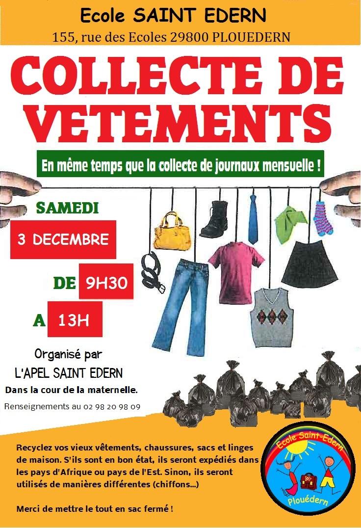 Collecte De Vtements Samedi 3 Dcembre Ecole Saint Edern