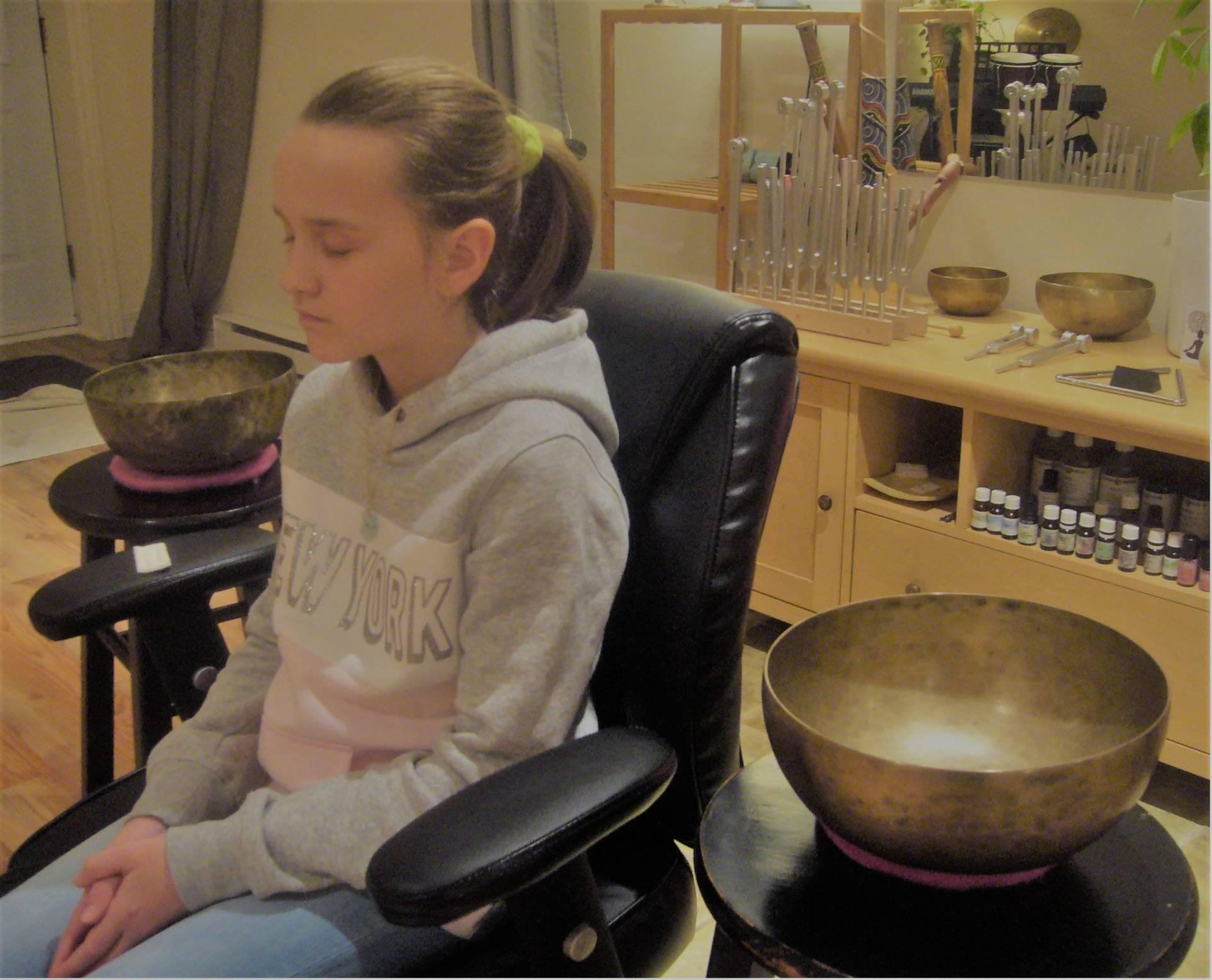 Sonothérapie à la fin d'un cours de chant
