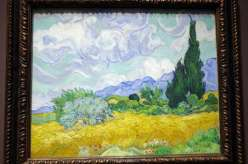 Paysage au cyprès - Van Gogh