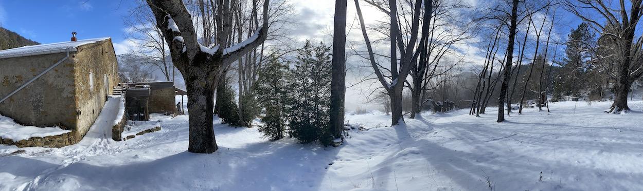 Visite hivernale du site, et préparation des chantiers de printemps