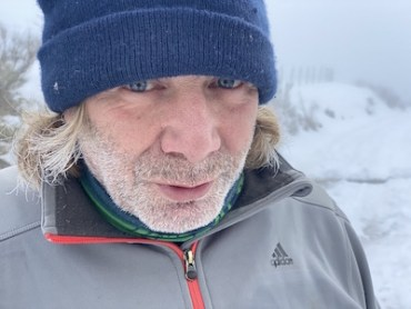Philippe sur fond de neige