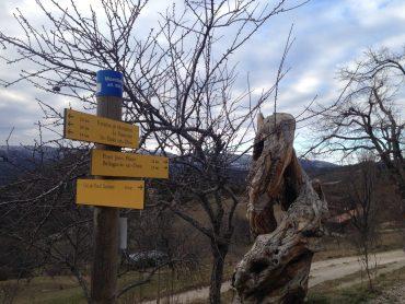 Poteau indicateur à Montlahuc