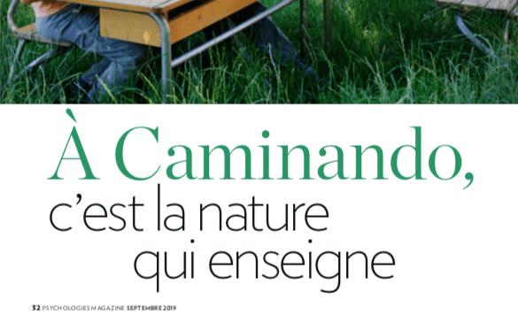 À Caminando, c'est la nature qui enseigne — Psychologies magazine septembre 2019