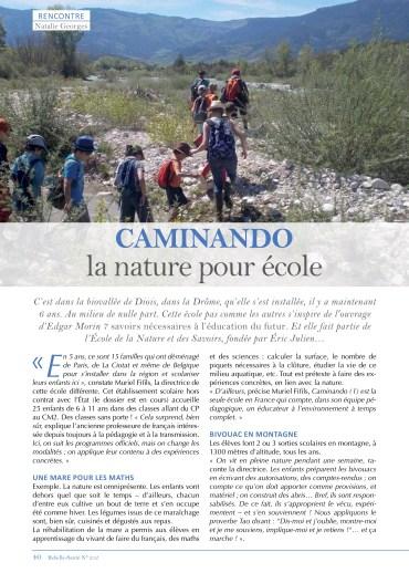 Caminando dans le magazine Rebelle-Santé 212 (1/2)