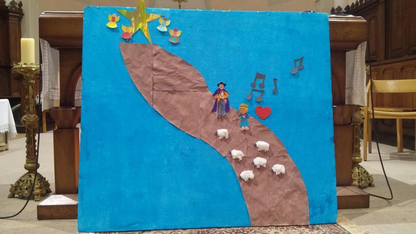Célébration de Noël - Réalisation des enfants de l'Ecole de Oytier