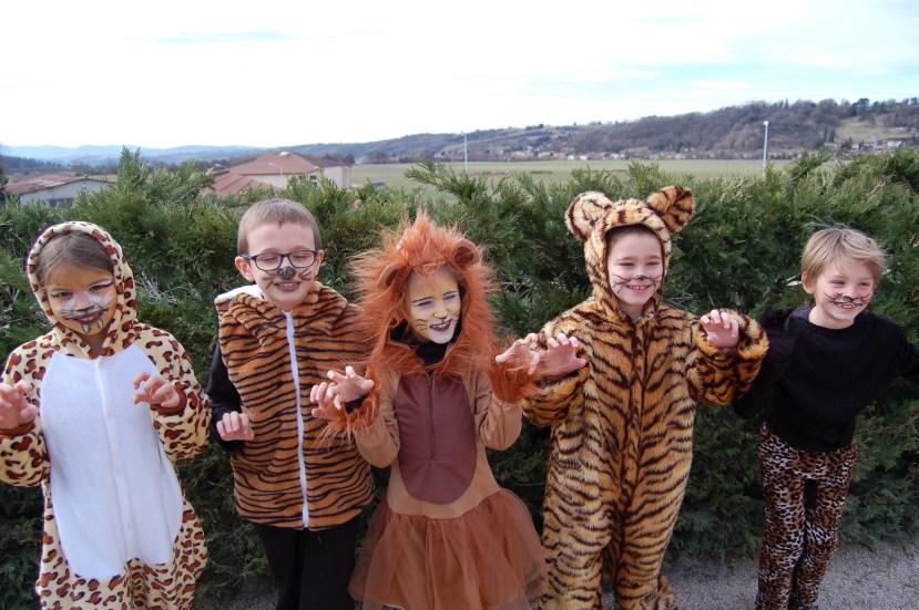 """Carnaval Ecole Privée Les Abeilles - Déguisement sur le thème """"Les animaux"""""""