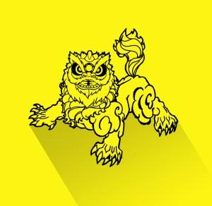 lion-symbole-ecole-wuxing-kung-fu