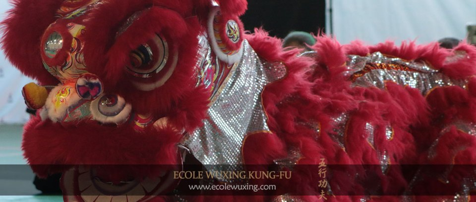 Ecole Wuxing - Danse du lion - costume - représentation - démonstration - marche