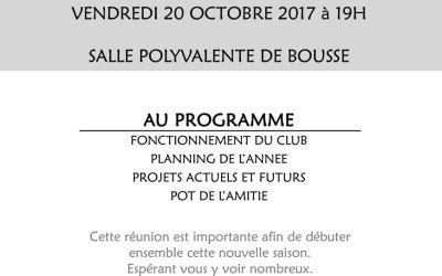 Assemblée générale du club 2017