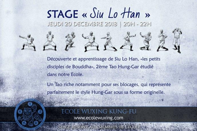 Stage Siu Lo Hun - les petits disciples de Buddha - Tao Kuen Hung Gar