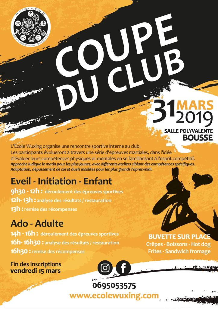 Coupe Wuxing - coupe du club 2019
