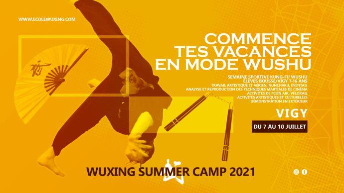 Wuxing Summer Camp 2021 - Semaine Sportive Kung-Fu Wushu à Vigy
