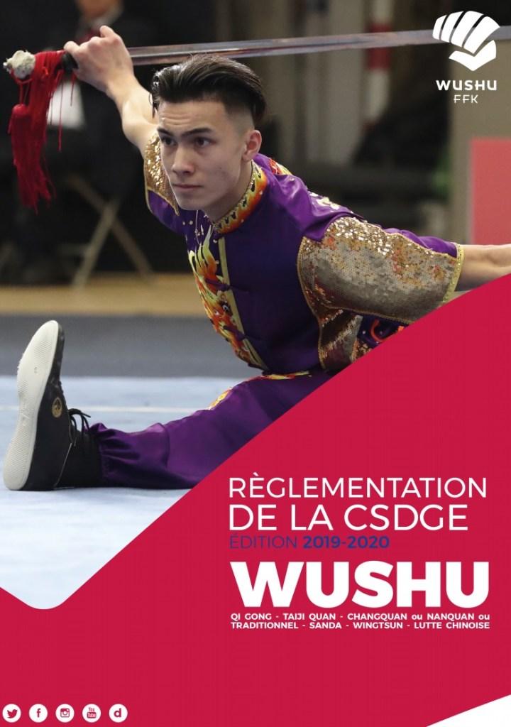 Couverture réglementation CSDGE 2019 2020 Wushu FFKDA