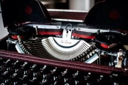Olympia vintage typewriter notecard