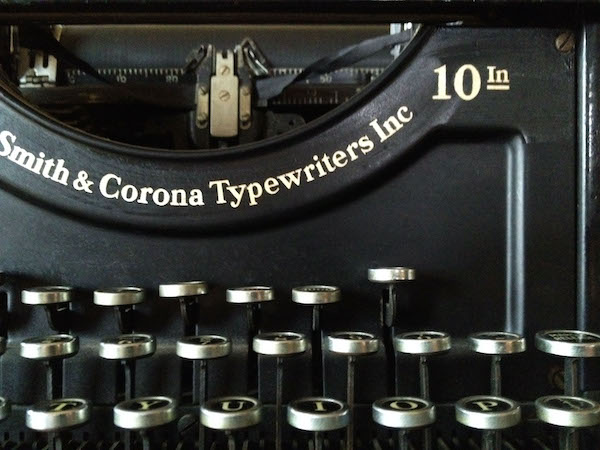 Smith Corona vintage typewriter notecard