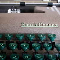 Smith Corona silent typewriter notecard