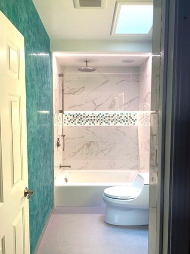 shower niche lighting and shower