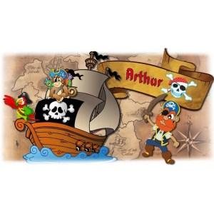 Gobelet personnalisé pirateavec le prénom de votre choix. Personnalisable à partir d'1 gobelet ! - cadeaux