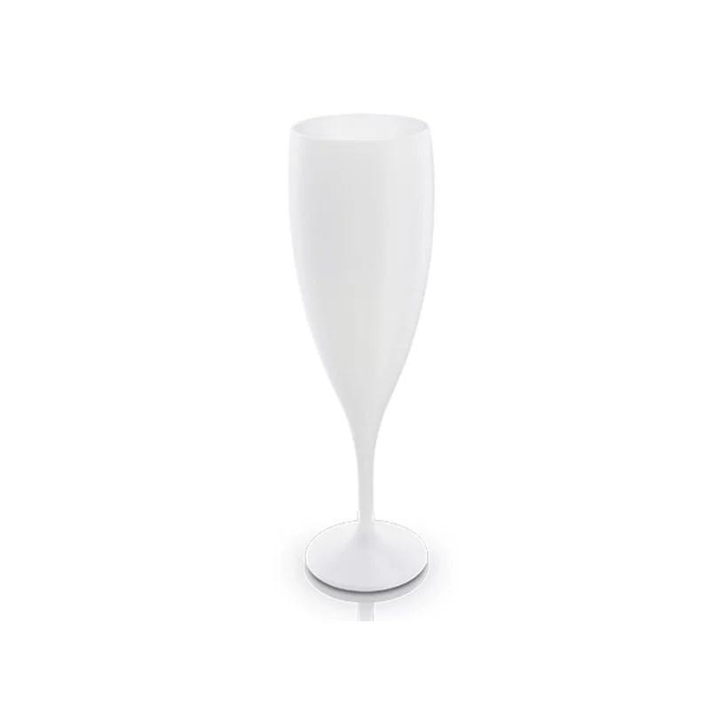 Flute à champage en PP blanc
