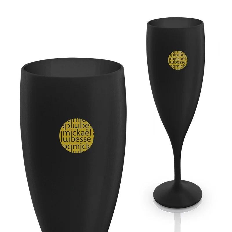 Flute à champage personnalisable noire
