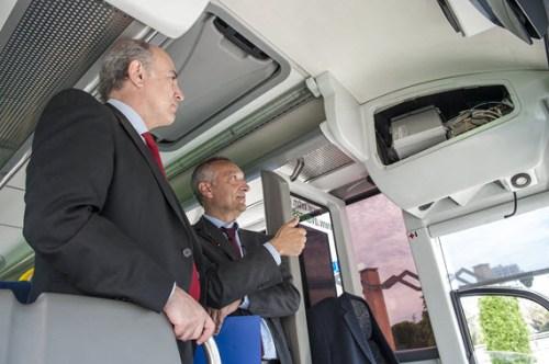 Medidor de contaminación para autobuses
