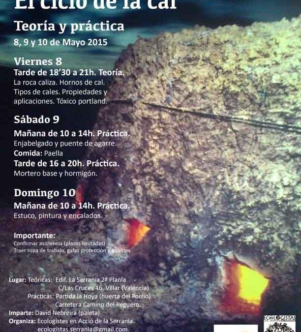 Taller Bioconstrucción Con Cal 8,9,10 Mayo Villar del Arzobispo