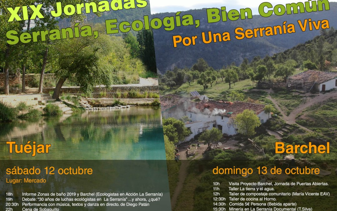 XIX Jornadas – Serranía, Ecología, Bien Común