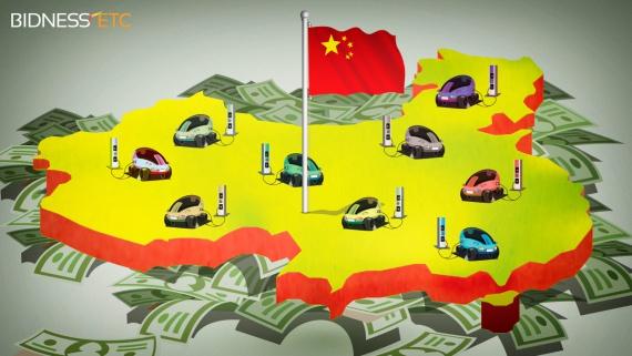 электромобили Китай