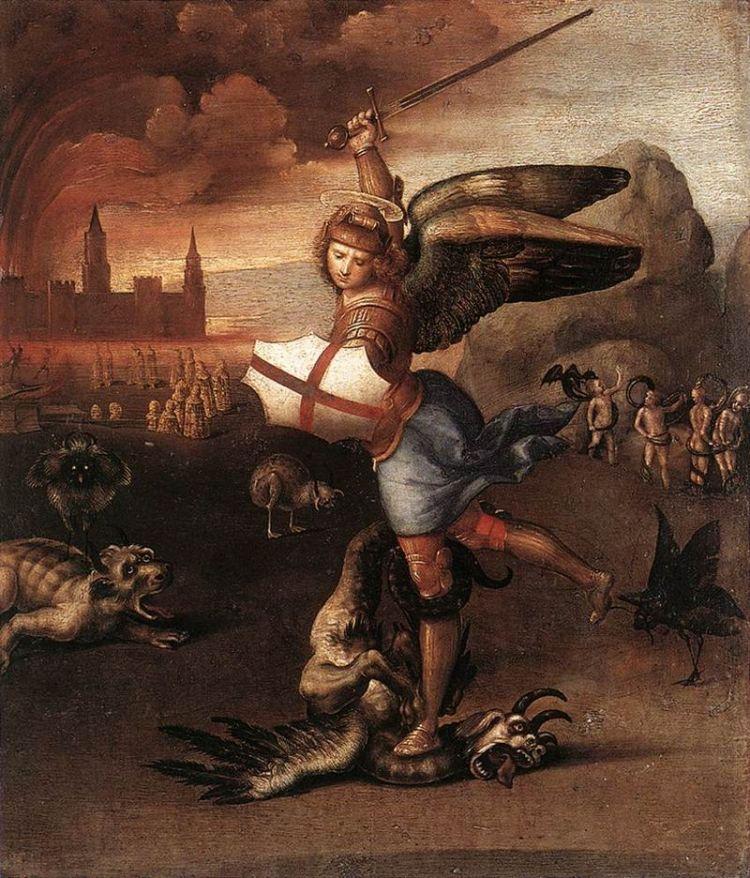 San Michele e il drago Raffaello ecomarche