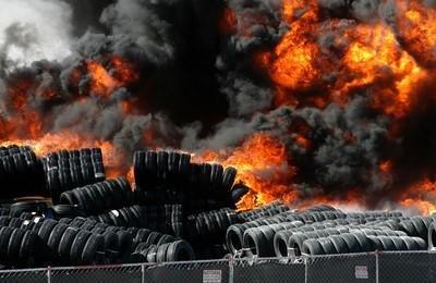 tire-burning