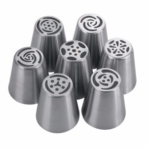 7Pcs/set Tulip Icing Piping Nozzles Cake Decoration Tips 3d printer nozzle Biscuits Sugarcraft Pastry Baking Tool DIY