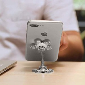 Magic Sucker Cell Phone Holder Pocketable 360° Rotatable Metal Flowers Suction Cup Stand