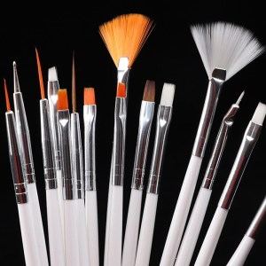 15pcs Nail Art Painting Brush Darwing Brushes Set Dotting Pen Liner Stripe Gradient Tools Nail Art Accessories