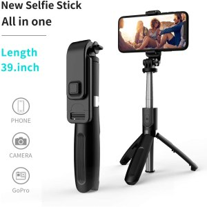 Selfie Stick, Handheld Tripod with Detachable Wireless Remote and Mini Tripod Stand Selfie Stick