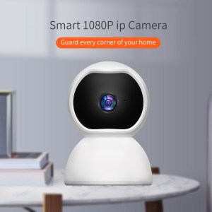 Guudgo Surveillance Camera 1080P IP Smart Camera WiFi 360 Angle Night Vision Camcorder Video Webcam Baby Home Security Monitor