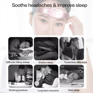Electric Head Relaxing Massage Portable Forehead Massage USB Rechargeable for Improve Sleep Relief The Pain