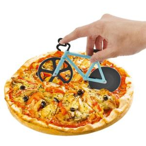 Pizza Cutter Stainless Steel Bike Pattern Pizza Cutting Knife Non-stick Pizza Cake Hob Cutter kitchen Baking Tools Accessories