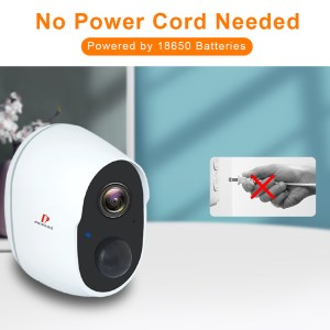 Pripaso 1080P Wireless Battery Powered IP CCTV Camera Outdoor Indoor Home Waterproof Security Rechargeable Wifi Battery Camera